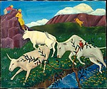 Steers at Play