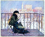 Peggy Sketching from a Balcony