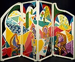 """CARIBBEAN TEA TIME"" FOLDING SCREEN"