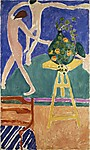 Nasturtiums with the Painting &quot;Dance&quot; I