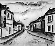Street in Nesles, Northern France