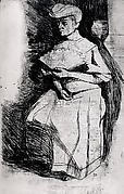 Seated Woman Holding a Fan