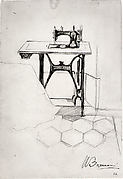 "Study for ""The Story of a Seamstress"": Sewing Machine"