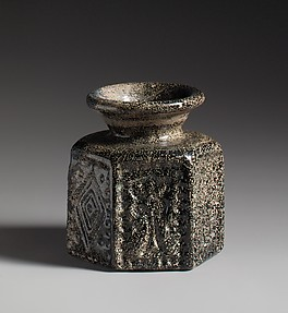 Hexagonal Pilgrim's Jar with Jewish Symbol