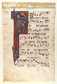 Manuscript Leaf with the Martyrdom of Saint Peter Martyr in an Initial P, from a Gradual