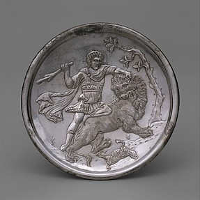 Plate with David Slaying a Lion