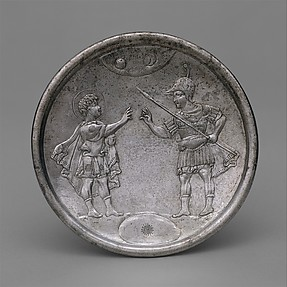 Plate with David&#39;s Confrontation with Eliab