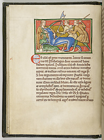A Maiden Taming a Unicorn, from the Worksop Bestiary