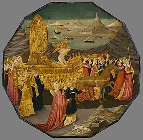 Birth Tray (Desco da Parto) with the Triumph of Chastity (recto) and Naked Boys with Poppy Pods (verso)