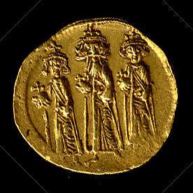 Solidus of Heraclius, Heraclius Constantine, and Heraclonas