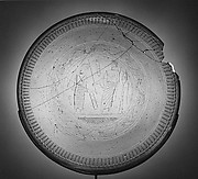 Glass Dish with an Engraving of the Raising of Lazarus