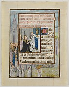 Manuscript Leaf with the Holy Communion, from a Book of Hours