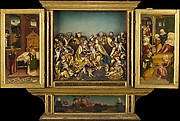 Altarpiece with scenes from the life of the Virgin