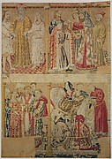 Seven Scenes from the Story of the Seven Sacraments, God the Father Uniting Adam and Eve, and David Being Annoited King at Hebron