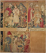 Seven Scenes from the Story of the Seven Sacraments, Namaan Being Cleansed in the Jordan