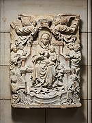Relief with Enthroned Virgin and Child surrounded by Angels