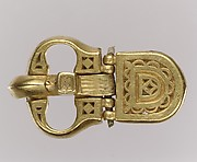 Gold Belt Buckle and Gold Strap End