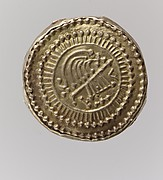 Gold Disk Brooch