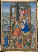 Manuscript Illumination with Adoration of the Magi