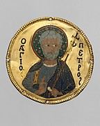 Medallion with Saint Peter from an Icon Frame