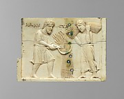 Panel from an Ivory Casket with the Story of Adam and Eve