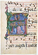 Initial A with the Assumption of the Virgin