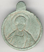 Medallion with the Head of a Saint