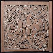 Leading for Stained Glass window with Flagellation (?) Scene