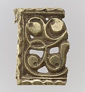 Fragment of a Gold Attachment Plate for a Buckle