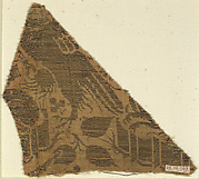 Textile with Eagle Attacking Dog