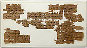 Papyri Fragments of a Letter from Tagape