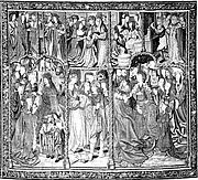 Scenes from The Story of Charlemagne (?) (from Christ the Judge on the Throne of Majesty and Other Subjects)
