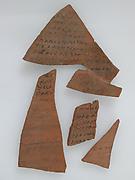 Ostrakon with Biblical Text Concordance