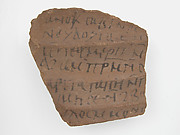 Ostrakon with a Letter from Sabinus to Paham