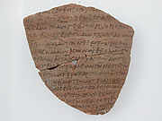 Ostrakon with a Letter to John and Enoch