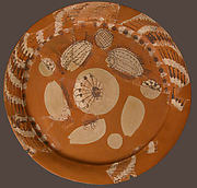 Fragmentary Platter with Fish and Rosettes