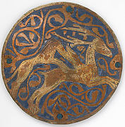 Medallion with Hound Attacking Stag