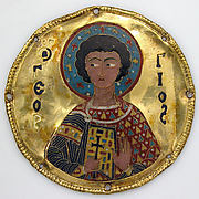 Medallion with Saint George from an Icon Frame
