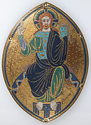 Plaque with Christ Blessing