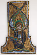 Plaque from a Cross with the Winged Man of Saint Matthew