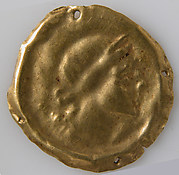 Bracteate with Profile of Head Facing Right