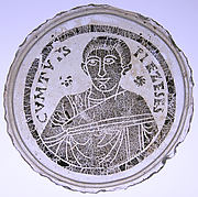 Bowl Base with the Portrait of a Young Man