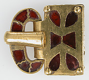 Gold Buckle with Garnets
