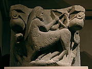 Capital with a Centaur Battling a Man with Bow and Arrow
