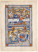 The Last Supper and the Washing of the Apostles' Feet Leaf from a Royal Psalter