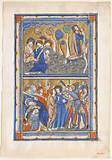 Manuscript Leaf from a Psalter: Agony in the Garden and Betrayal of Christ