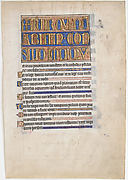 Manuscript Leaf from a Psalter