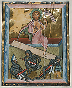 Manuscript Leaf with the Resurrection, from a Psalter