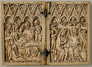 Diptych with Dormition and Coronation of the Virgin