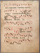 Manuscript Leaf, from a Gradual